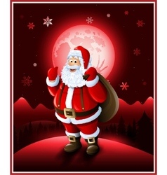 Santa Claus background Christmas greeting card vector image vector image