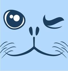 seal face vector image