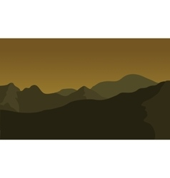 Silhouette of big mountain vector image vector image