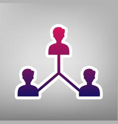 Social media marketing sign purple vector