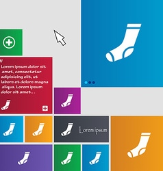 Socks icon sign buttons modern interface website vector
