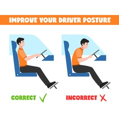 Spine Postures For Driver vector image