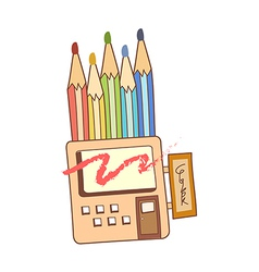 stationery store vector image vector image