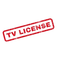 TV License Rubber Stamp vector image vector image