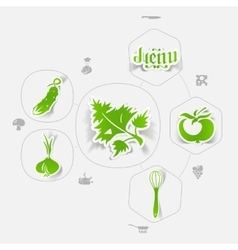 Restaurant sticker infographic vector