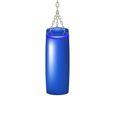 Punching bag for boxing in blue design vector