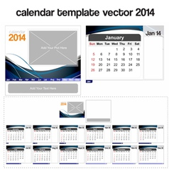 Desk calendar template 2014 vector