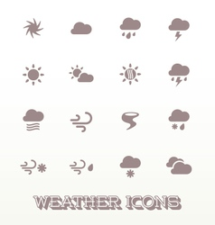 Modern Weather Icons vector image