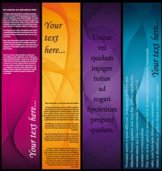 Vertical-banners vector