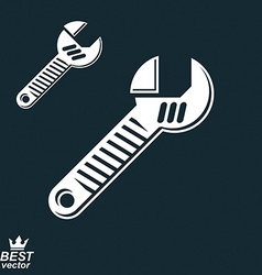 3d detailed adjustable wrench vector