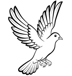 Dove birds logo for peace concept and wedding desi vector