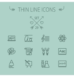 Education thin line icon set vector