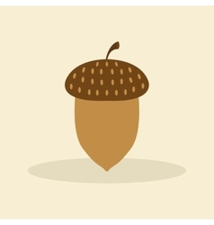 Cute nut vector