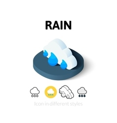 Rain icon in different style vector
