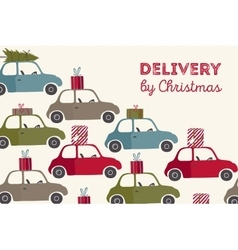 Spesial christmas delivery vector