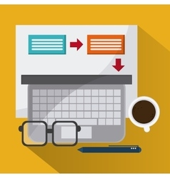 Strategy and office icons design vector