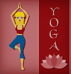 Yoga tree pose flat vector