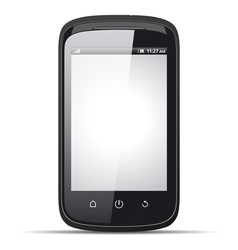 Realistic smartphone with blank screen vector