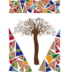 Art noveau tree idea vector