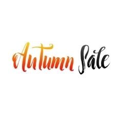 Autumn sale hand lettering design template vector