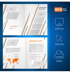 booklet design template catalog brochure lines vector image vector image