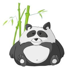Cartoon character panda vector