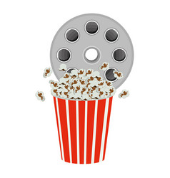 Color movie film clipart with pop corn icon vector