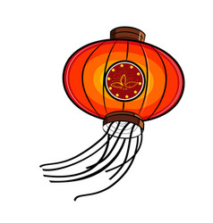 Color sketch chinese red lanterns vector