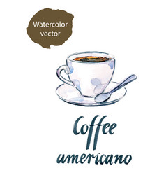 cup of coffee americano vector image vector image