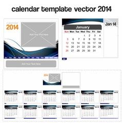 Desk calendar template 2014 vector image vector image