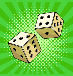 Dice game pop art style vector
