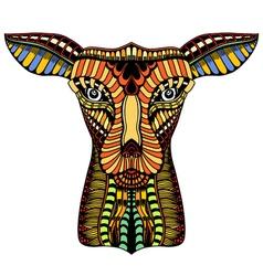 doodle ornate deer vector image