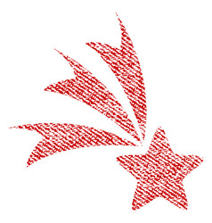 falling star fabric textured icon vector image