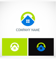 Home round technology logo vector