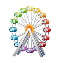 Icon ferris wheel vector