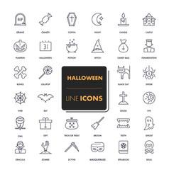 line icons set halloween vector image vector image