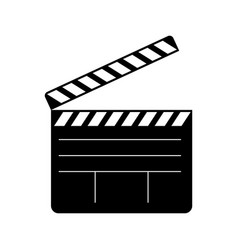 open clapperboard icon vector image vector image