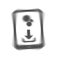 Phone icon with settings symbol gray icon vector