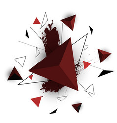 Red triangle abstract on white background vector