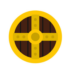 Round protective shield icon flat style vector