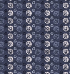Scribbled circles big and small on blue vector