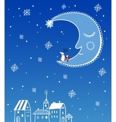 Seamless greeting Christmas card vector image