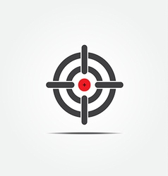 Symbol of crosshair vector