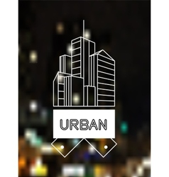 Urban concept skyscrapers line art design vector image