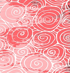 Waves hand drawn pattern background curled pink vector