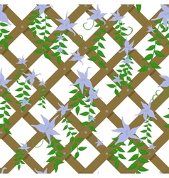 wicker with blue flowers vector image vector image