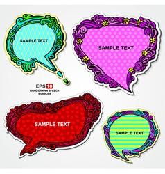Retro style multicolored speech bubbles vector image