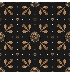 Floral pattern seamless rhombus cell backdrop vector