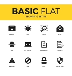 Basic set of security icons vector