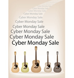 Cyber monday promotion on brown retro stage vector